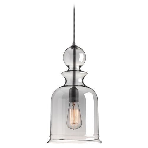 Progress Lighting Progress Lighting Staunton Graphite Mini-Pendant Light with Bowl / Dome Shade P5333-143
