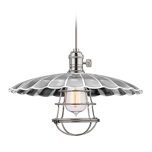 Hudson Valley Lighting Pendant Light in Polished Nickel Finish 9001-PN-MM3-WG