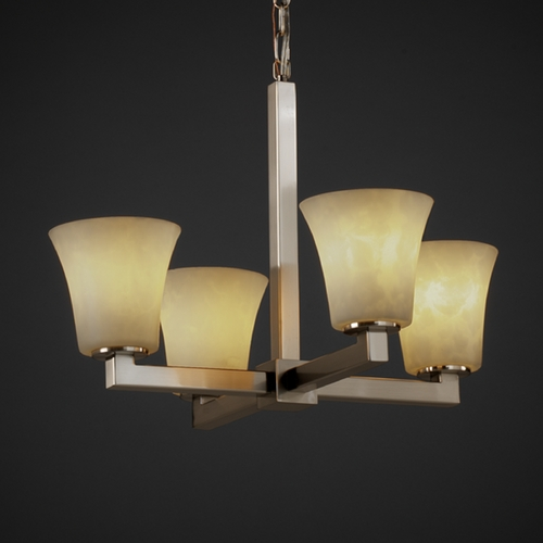 Justice Design Group Justice Design Group Clouds Collection Chandelier CLD-8829-20-NCKL