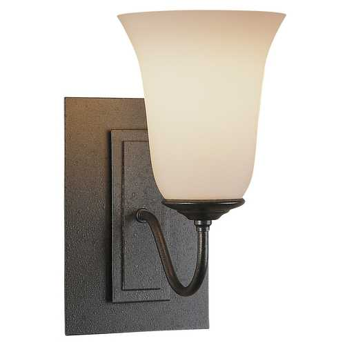 Hubbardton Forge Lighting Reversible Sconce with Opal Glass Bell 203221-20-G35