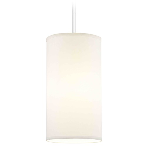Design Classics Lighting Design Classics Milo Slim Chrome Mini-Pendant Light with Cylindrical Shade DCL 6542-26 SH9675