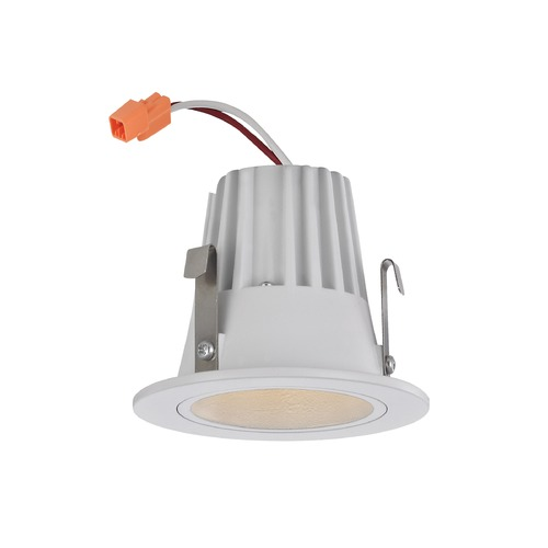 Recesso Lighting by Dolan Designs Cone Trim LED Recessed Module for 2-Inch Cans - White Finish T200-WH