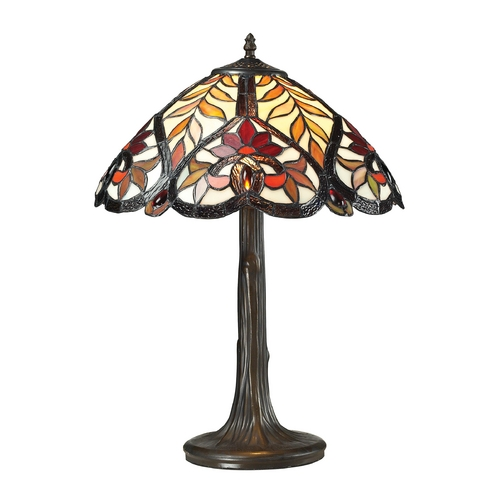 Dimond Lighting Dimond Lighting Brimford Tiffany Bronze Table Lamp with Bowl / Dome Shade 72080-1