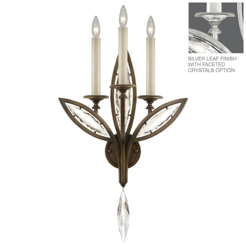 Fine Art Lamps Fine Art Lamps Marquise Platinized Silver Leaf Sconce 844650-12ST