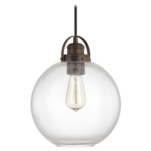 Capital Lighting Capital Lighting Burnished Bronze Pendant Light with Globe Shade 4641BB-136
