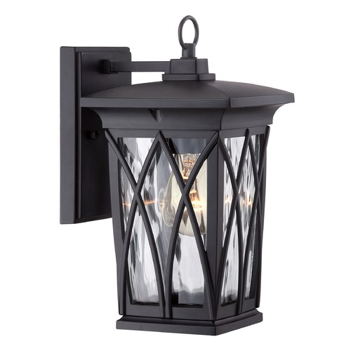 Quoizel Lighting Quoizel Grover Mystic Black Outdoor Wall Light GVR8406K