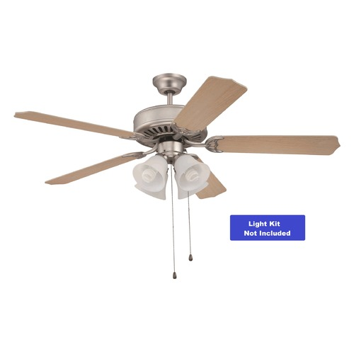 Craftmade Lighting Craftmade Pro Builder Brushed Satin Nickel Ceiling Fan Without Light K10262