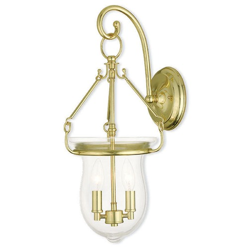 Livex Lighting Livex Lighting Canterbury Polished Brass Sconce 50292-02