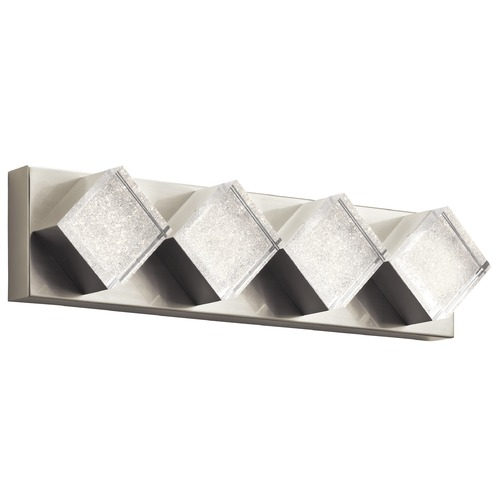 Elan Lighting Elan Lighting Gorve Brushed Nickel LED Bathroom Light 83781