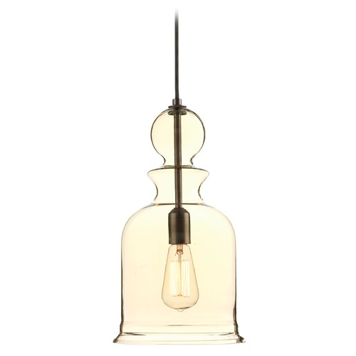 Progress Lighting Progress Lighting Staunton Antique Bronze Mini-Pendant Light with Bowl / Dome Shade P5333-20