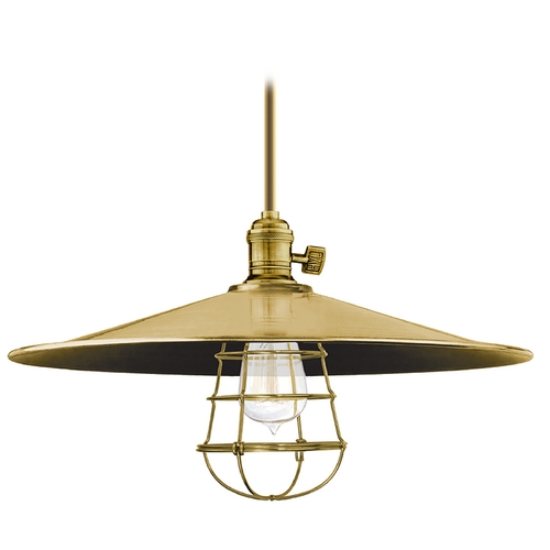 Hudson Valley Lighting Pendant Light in Aged Brass Finish 9001-AGB-ML1-WG