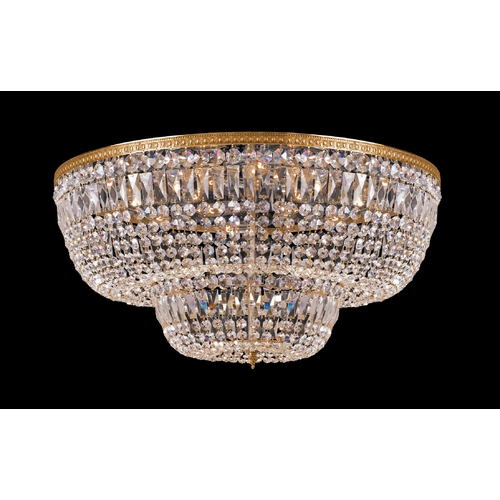 Crystorama Lighting Crystal Flushmount Light in Olde Brass Finish 748-OB-CL-MWP