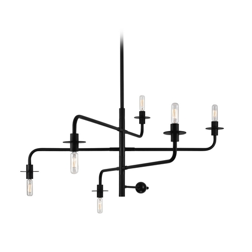 Sonneman Lighting Mid-Century Modern Pendant Light Black Atelier by Sonneman Lighting 4546.25