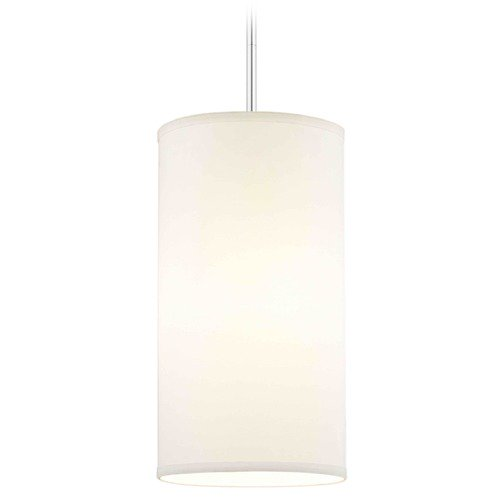 Design Classics Lighting Milo Slim Chrome Mini-Pendant Light with Cylindrical Shade DCL 6542-26 SH9675