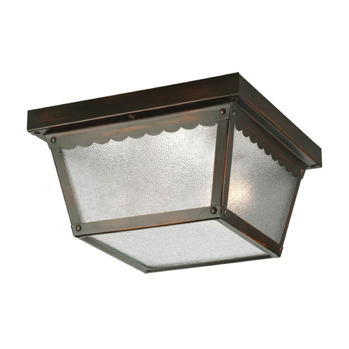 Progress Lighting Progress Outdoor Ceiling Light with White Glass in Bronze Finish P5729-20