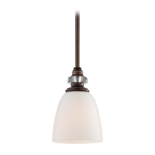Minka Lavery Mini-Pendant Light with White Glass 4941-570