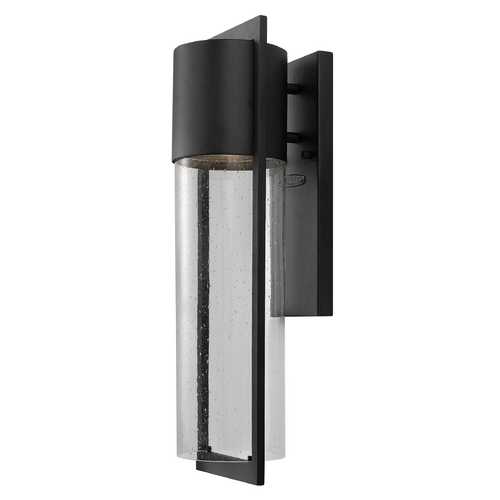 Hinkley Lighting Modern Outdoor Wall Light with Clear Glass in Black Finish 1324BK-GU24