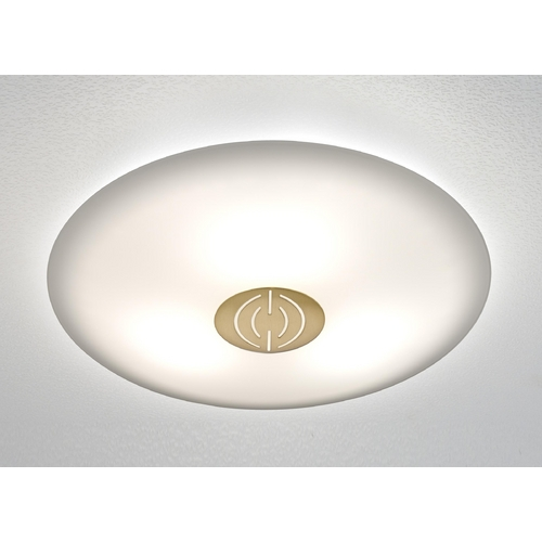Holtkoetter Lighting Holtkoetter Modern Semi-Flushmount Light with White Glass in Antique Brass Finish 3503DEK AB