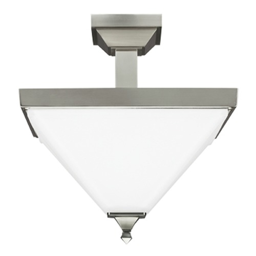 Sea Gull Lighting Sea Gull Lighting Denhelm Brushed Nickel Semi-Flushmount Light 7750402-962