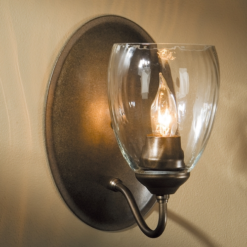 Hubbardton Forge Lighting Hubbardton Forge Lighting Simple Lines Dark Smoke Sconce 204213-07-CTO
