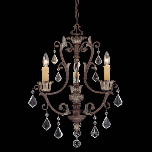 Savoy House Savoy House New Tortoise Shell W/silver Mini-Chandelier 1P-1550-3-8