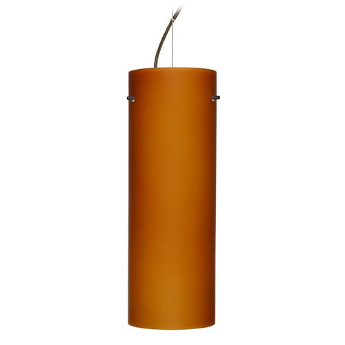 Besa Lighting Besa Lighting Tondo Bronze LED Pendant Light with Cylindrical Shade 1KX-412880-LED-BR