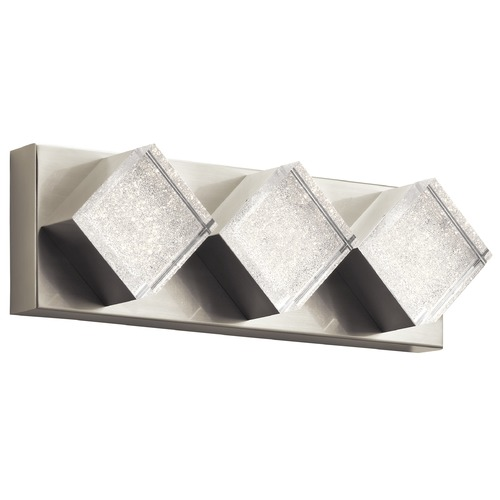 Elan Lighting Elan Lighting Gorve Brushed Nickel LED Bathroom Light 83782