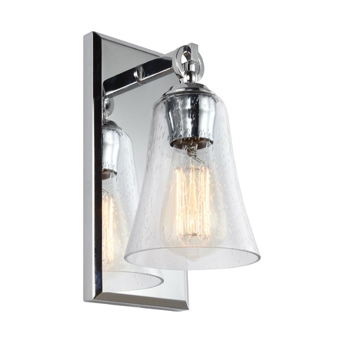 Feiss Lighting Seeded Glass Sconce Chrome Feiss Lighting VS24701CH