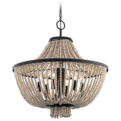 Kichler Lighting Kichler Lighting Brisbane Distressed Black Chandelier 43891DBK