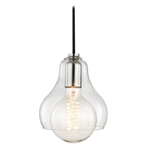Mitzi by Hudson Valley Sadie Polished Nickel Mini-Pendant Light Mitzi by Hudson Valley H104701L-PN