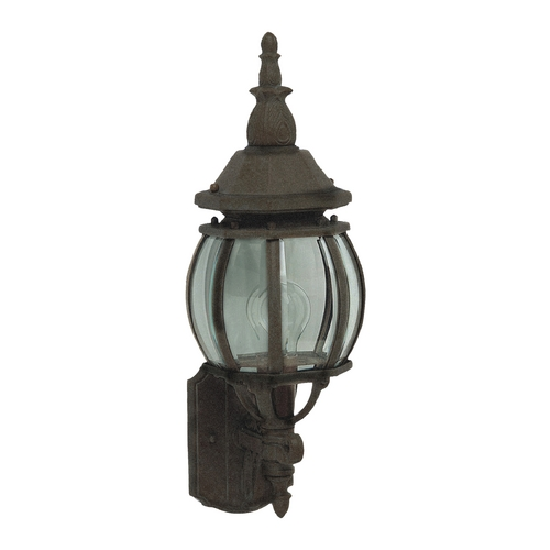 Maxim Lighting Outdoor Wall Light with Clear Glass in Rust Patina Finish 1032RP