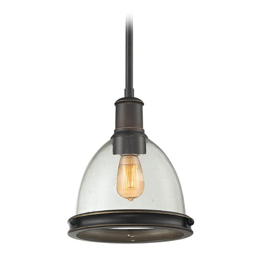 Z-Lite Z-Lite Mason Olde Bronze Mini-Pendant Light with Bowl / Dome Shade 717MP-OB