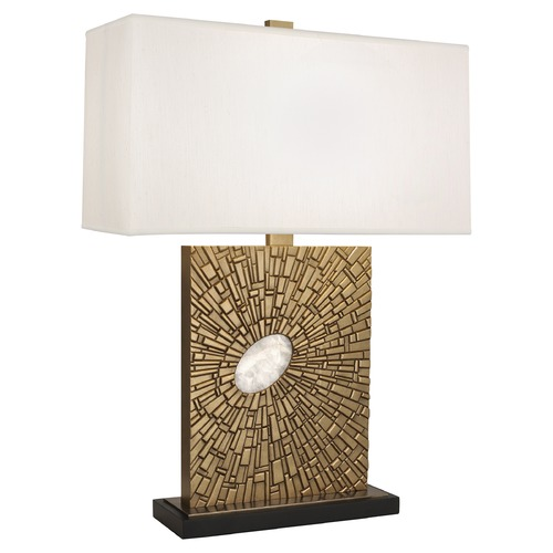 Robert Abbey Lighting Robert Abbey Lighting Goliath Table Lamp with Rectangular Pearl Dupioni Silk Shade 415