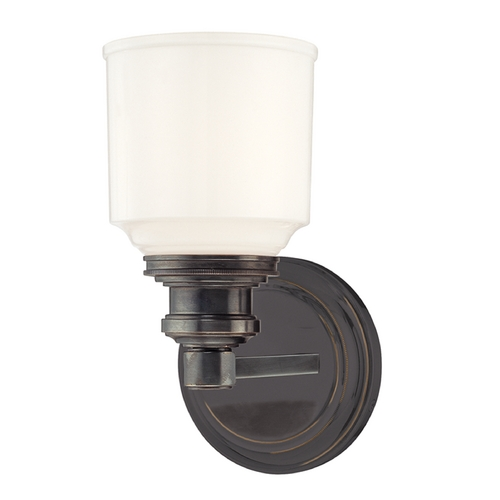 Hudson Valley Lighting Sconce with White Glass in Old Bronze Finish 3401-OB