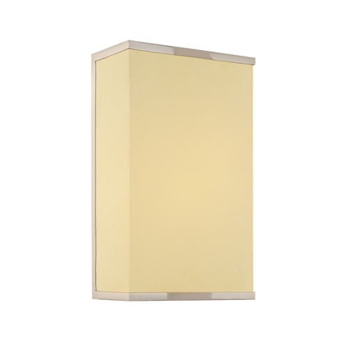 Sonneman Lighting Modern Sconce Wall Light with White Shade in Satin Nickel Finish 1831.13F
