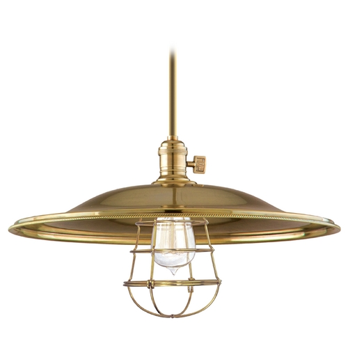 Hudson Valley Lighting Pendant Light in Aged Brass Finish 9001-AGB-ML2-WG