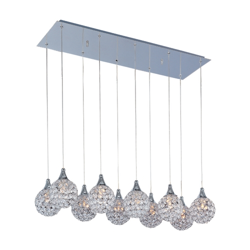 ET2 Lighting Modern Multi-Light Pendant Light 10-Lights E24028-20PC