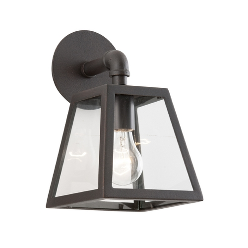 Troy Lighting Outdoor Wall Light with Clear Glass in River Valley Rust Finish BCD3431