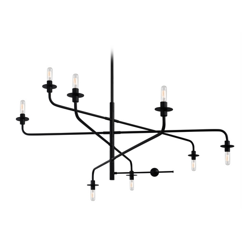 Sonneman Lighting Modern Chandelier in Satin Black Finish 4548.25