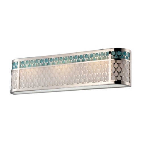 Nuvo Lighting Modern LED Sconce Wall Light with White in Polished Nickel Finish 62/144