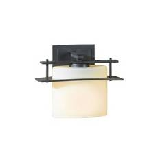 Hubbardton Forge Lighting Sconce Wall Light with Alabaster Glass in Burnished Steel Finish 20752108-G182