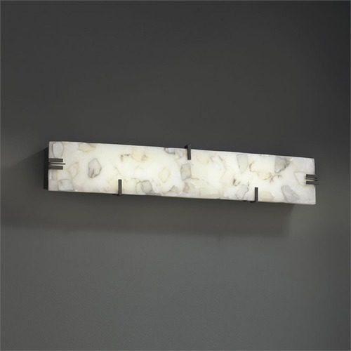 Justice Design Group Justice Alabaster Rocks Dark Bronze LED Bathroom Light ALR-8870-DBRZ