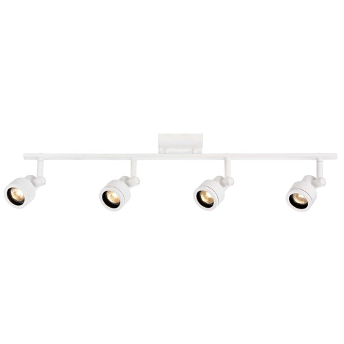 Recesso Lighting by Dolan Designs Track Light with 4 Stepped Cylinder Spot Lights - White - GU10 Base TR0204-WH