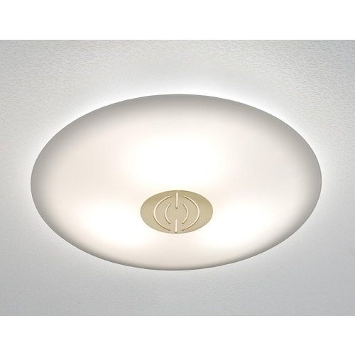 Holtkoetter Lighting Holtkoetter Modern Semi-Flushmount Light with White Glass in Brushed Brass Finish 3503DEK BB