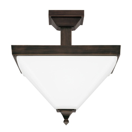 Sea Gull Lighting Sea Gull Lighting Denhelm Burnt Sienna Semi-Flushmount Light 7750402-710