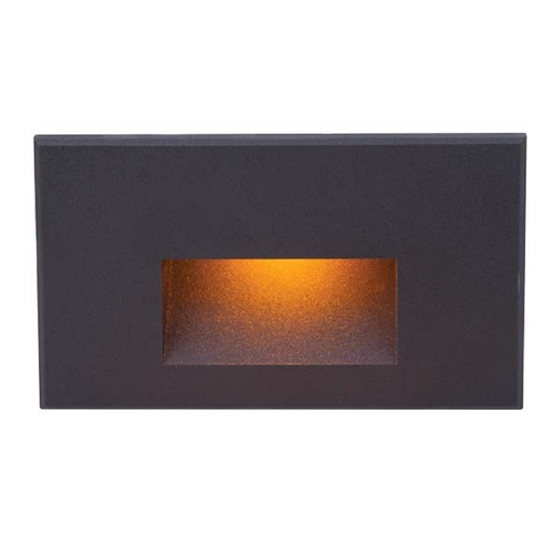 WAC Lighting WAC Lighting Black LED Recessed Step Light with Amber LED WL-LED100-AM-BK