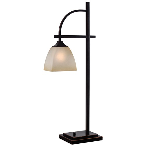 Kenroy Home Lighting Kenroy Home Lighting Arch Oil Rubbed Bronze Table Lamp with Rectangle Shade 32290ORB