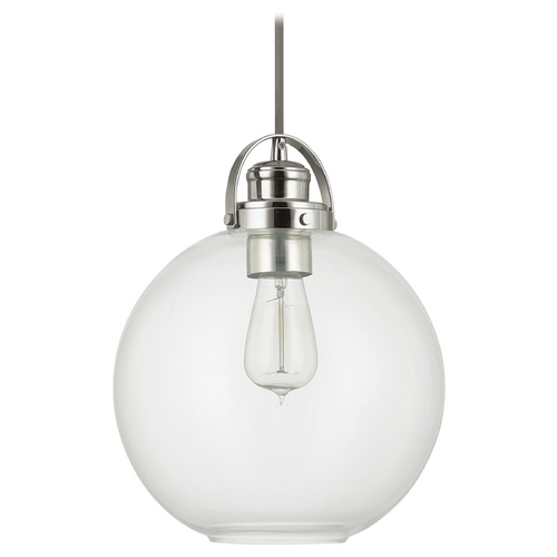 Capital Lighting Capital Lighting Polished Nickel Pendant Light with Globe Shade 4641PN-136