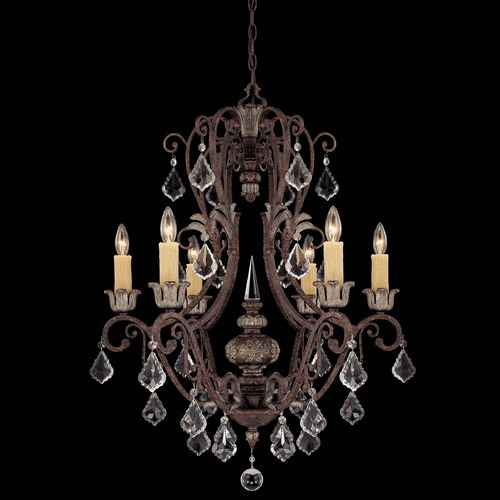 Savoy House Savoy House New Tortoise Shell W/silver Crystal Chandelier 1P-1551-6-8