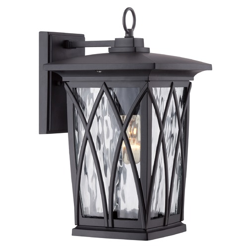 Quoizel Lighting Quoizel Grover Mystic Black Outdoor Wall Light GVR8408K
